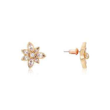 August Woods Rose Gold Crystal Floral Drop Earrings  - Click to view larger image