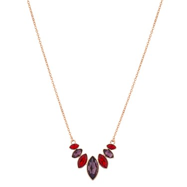 August Woods Rose Gold Colour Glass Drop Necklace  - Click to view larger image
