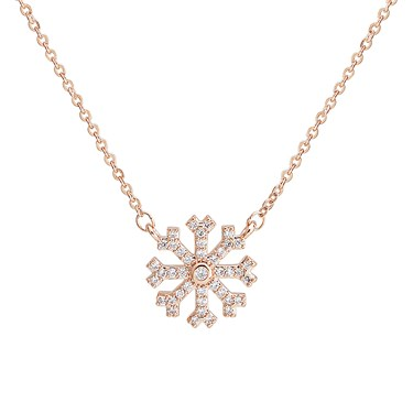 August Woods Rose Gold Crystal Snowflake Necklace  - Click to view larger image