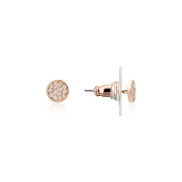 August Woods Rose Gold Pavé Circle Earring  - Click to view larger image