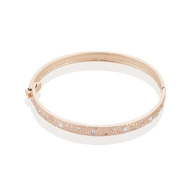 August Woods Rose Gold Crystal Star Bangle  - Click to view larger image