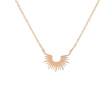 Dirty Ruby Rose Gold Halo Style Necklace  - Click to view larger image