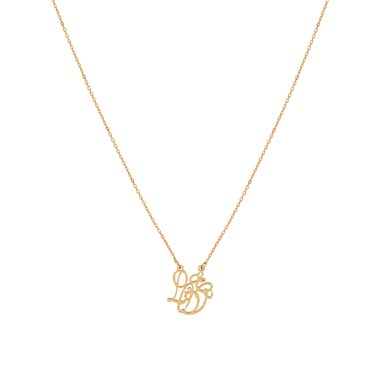 August Woods Rose Gold Love Script Necklace  - Click to view larger image