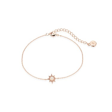 Dirty Ruby Rose Gold Opal Sun Bracelet  - Click to view larger image