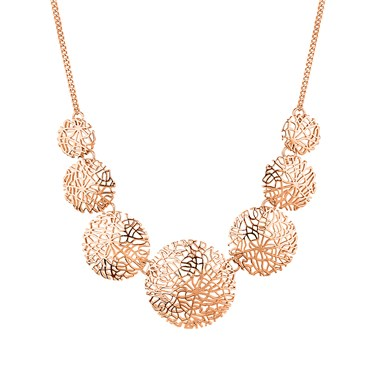 August Woods Rose Gold Intricate Mesh Necklace  - Click to view larger image