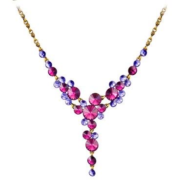 Karma Purple Cascading Necklace