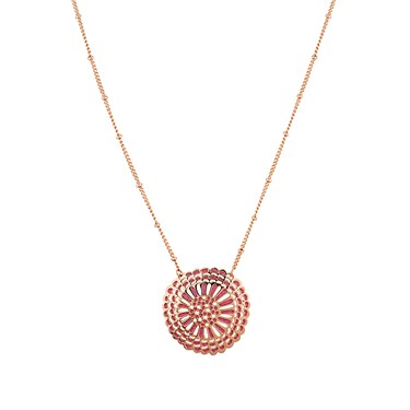 August Woods Rose Gold Pink Open Necklace  - Click to view larger image