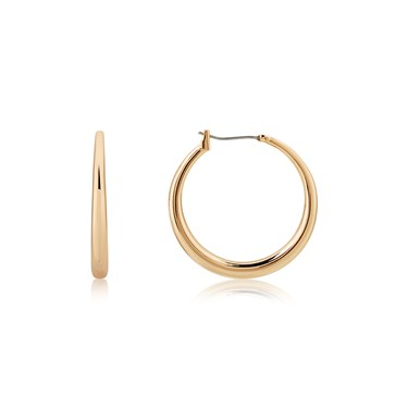 August Woods Rose Gold Plain Thick Hoop Earrings  - Click to view larger image