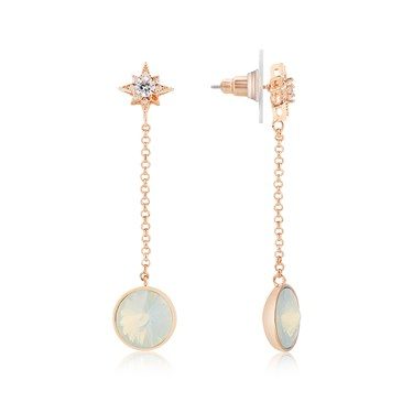 August Woods Rose Gold Star Opal Drop Earring  - Click to view larger image