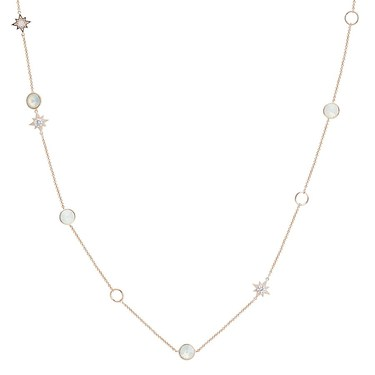 August Woods Rose Gold Star Opal Long Necklace  - Click to view larger image
