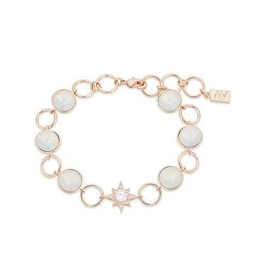 August Woods Rose Gold Star Opal Row Bracelet  - Click to view larger image