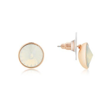 August Woods Rose Gold Opal Stud Earrings  - Click to view larger image