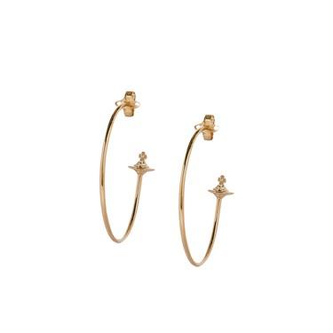 0e4adf7955072 Vivienne Westwood Rosemary Rose Gold Hoop Earrings   Argento.com