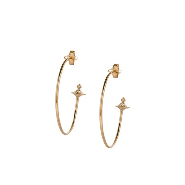 Vivienne Westwood Rosemary Rose Gold Hoop Earrings  - Click to view larger image