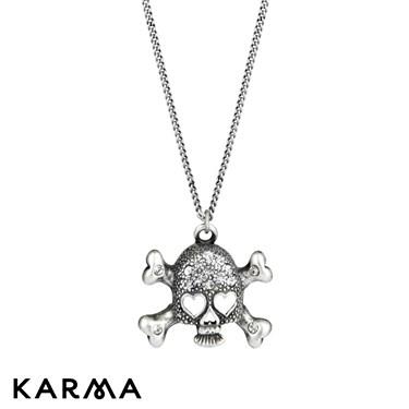 Karma 16 Inch Skull Crossbone Necklace