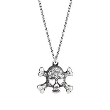 Karma 30 Inch Skull Crossbone Necklace