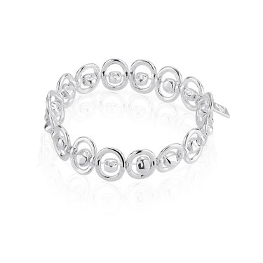 August Woods Silver Chain Elasticated Bracelet   - Click to view larger image