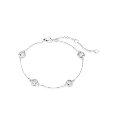August Woods Silver Clear Crystal Alternate Bracelet  - Click to view larger image