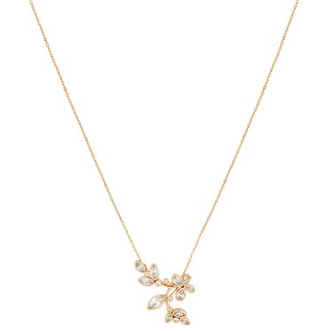 August Woods Rose Gold Clear CZ Butterfly Necklace  - Click to view larger image
