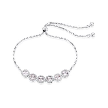 August Woods Silver Crystal Pavé Pull Bracelet  - Click to view larger image