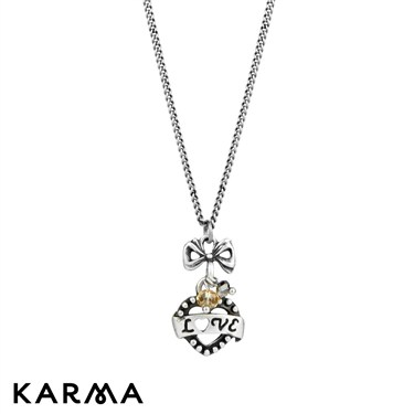 Karma 16 Inch Heart and Love Necklace
