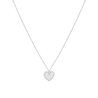 August Woods Silver Crystal  Heart Necklace  - Click to view larger image