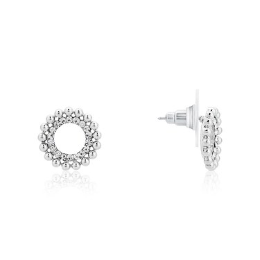 August Woods Silver Dimples Open Stud Earrings  - Click to view larger image