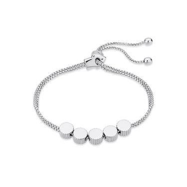 August Woods Silver Crystal Ball Bracelet  - Click to view larger image