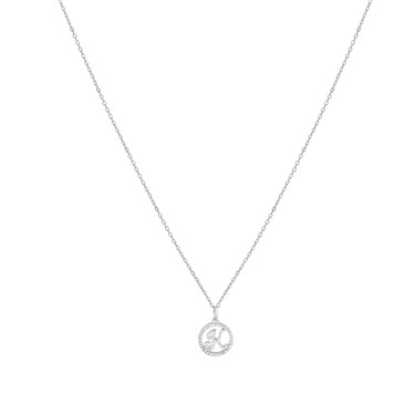 August Woods Silver Crystal K Initial Necklace  - Click to view larger image