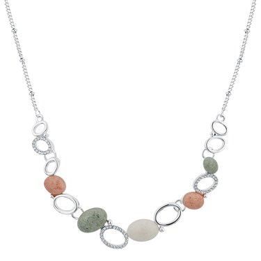 August Woods Silver Geo Rock Layered Necklace  - Click to view larger image