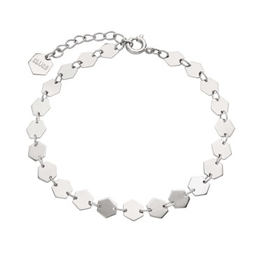 CLUSE Silver Hexagon Chain Bracelet   - Click to view larger image