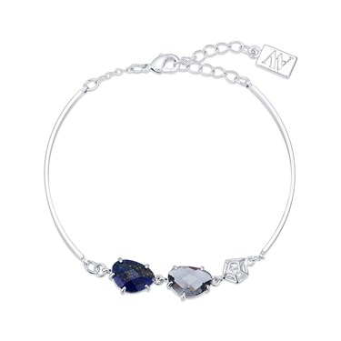 August Woods Silver Lapis Night Mix Bracelet  - Click to view larger image