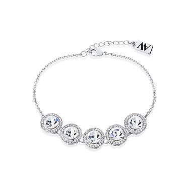 August Woods Silver Large Crystal Halo Bracelet  - Click to view larger image