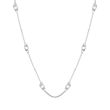 August Woods Silver Long Open Knot Necklace  - Click to view larger image