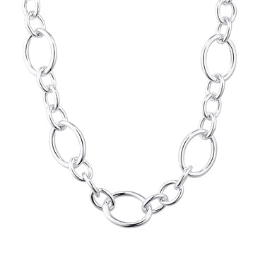 August Woods Silver Large Chain Toggle Necklace  - Click to view larger image