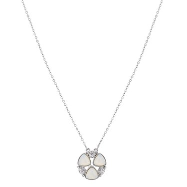 August Woods Silver Opal Multi Crystal Necklace  - Click to view larger image
