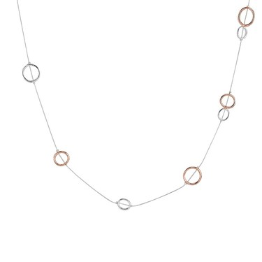 August Woods Mixed Metal Long Circle Necklace  - Click to view larger image