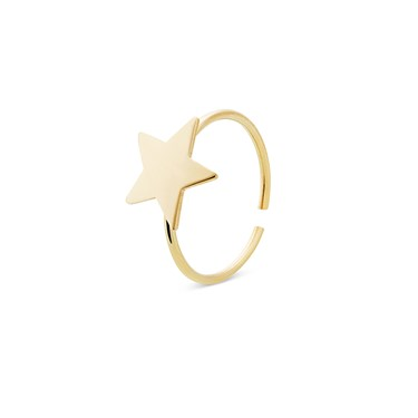 Storie  Gold Star Charm Ring  - Click to view larger image