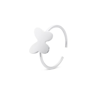 Storie  Silver Butterfly Charm Ring  - Click to view larger image