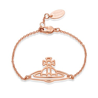 Vivienne Westwood Rose Gold Thin Lines Bracelet  - Click to view larger image