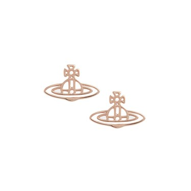 Vivienne Westwood Thin lines Rose Gold Earrings  - Click to view larger image