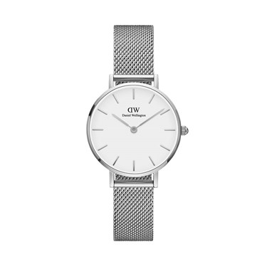 Daniel Wellington Petite White Sterling 28mm Silver Watch  - Click to view larger image