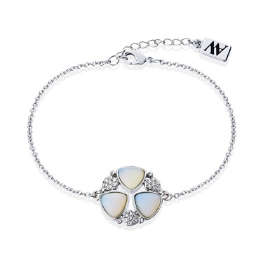 August Woods Silver Opal Multi Crystal Bracelet  - Click to view larger image