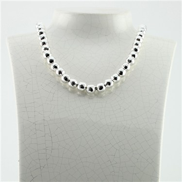 Argento Faceted Bead Necklace