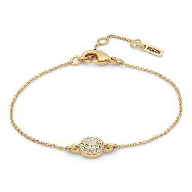 Pilgrim Gold Crystal Clementine Bracelet  - Click to view larger image