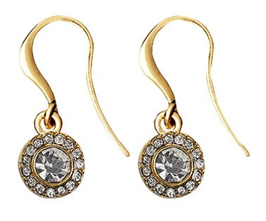 Pilgrim Gold Drop Clementine Earrings  - Click to view larger image