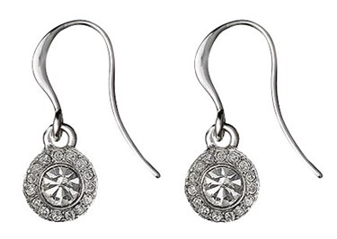 Pilgrim Silver Drop Clementine Earrings  - Click to view larger image