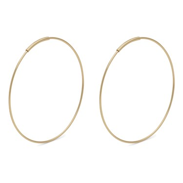 Pilgrim Gold Raquel Hoop Earrings   - Click to view larger image