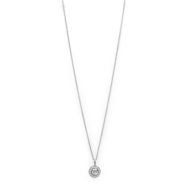 Pilgrim Silver Crystal Clementine Necklace  - Click to view larger image