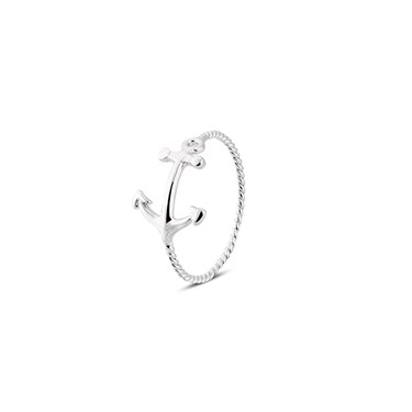 Karma Silver Anchor Ring Size   - Click to view larger image